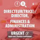 Extended posting: Director, Finance and Administration (click here for more info)