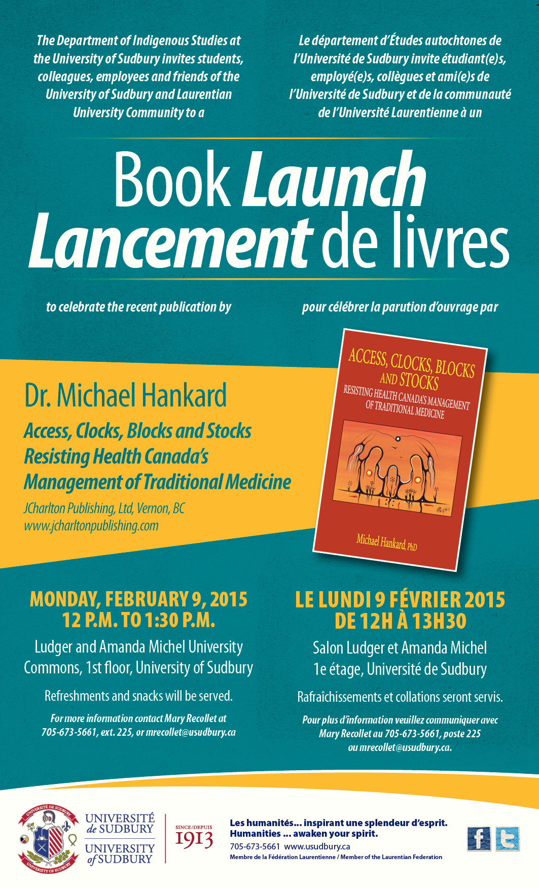 University of Sudbury | Université de Sudbury - Book Launch
