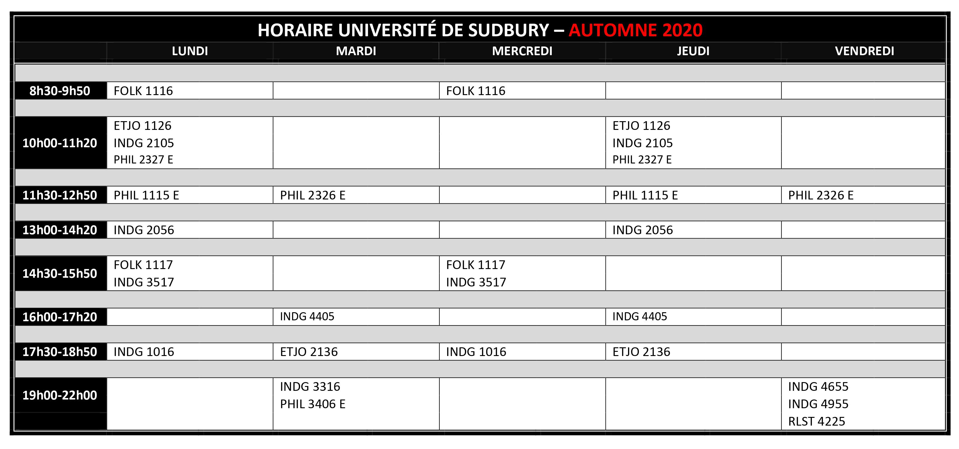 2020 2021 AUTOMNE HORAIRE FR